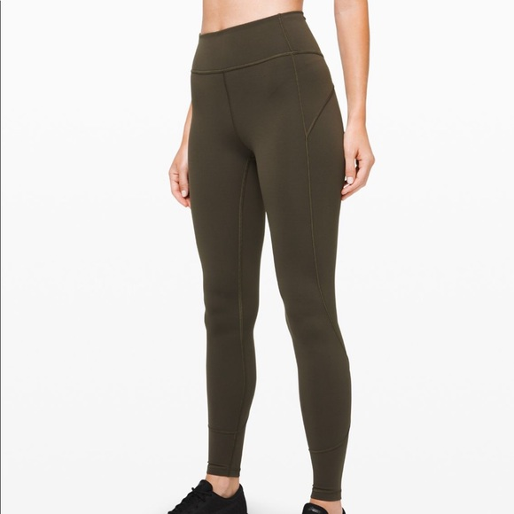lululemon athletica Pants - Lululemon In Movement leggings in olive green